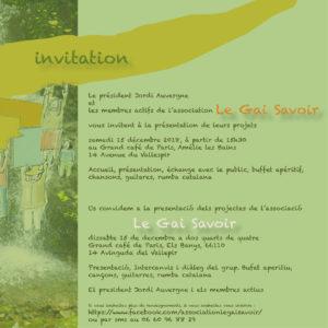 invitation LE Gai Savoir
