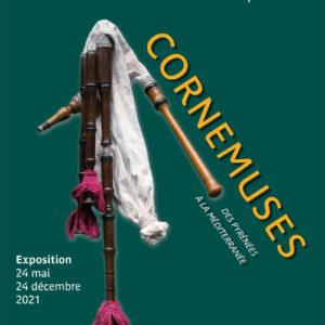 Affiche exposition des Cornemuses des Pyrénées à la Méditerranée