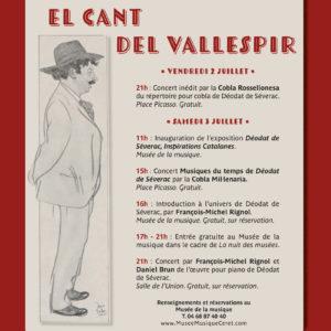 Affiche concerts Déodat de Séverac - Céret